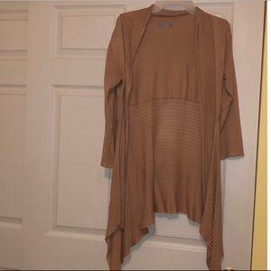 Tan woven cardigan